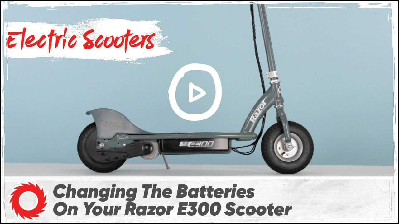 How To Change The Battery On The Razor E300 And E300s Electric Scooter Youtube