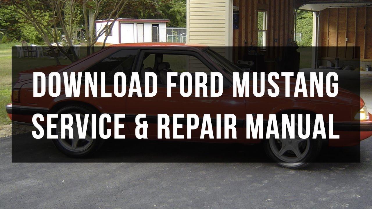 Ford mustang service and repair manual free pdf