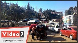 شلل مرورى بطريق مصر إسكندرية بعد انهيار كوبرى مشاة بالقليوبية