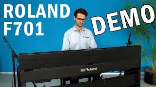 Video: Piano Con Mobile Roland F701 WH
