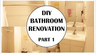 DIY Small Bathroom Renovation