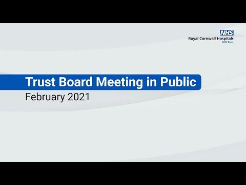 RCHT Board in Public - February 2021
