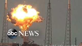 Space-X Rocket Explodes At Launch Site