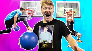 INSANE Trampoline Park Basketball Challenges!