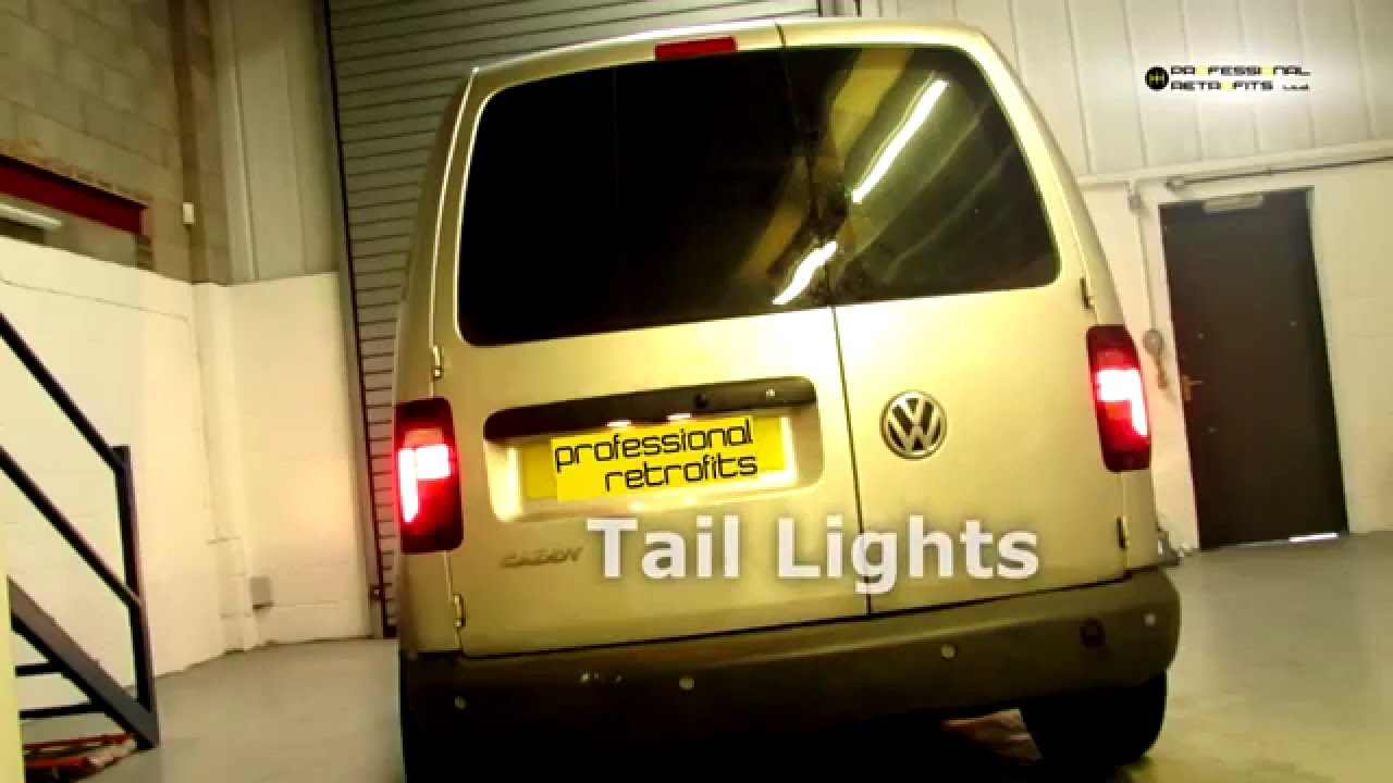 vw caddy facelift tail lights fitted youtube. Black Bedroom Furniture Sets. Home Design Ideas