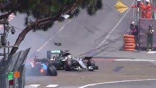 crash GP F1 Monaco 2016 HD sortie tunnel