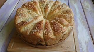 Дрожжевой пирог с яблоками и крошкой