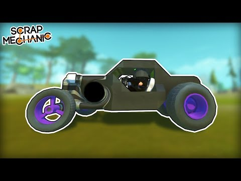 Black Hole Powered Car! (Scrap Mechanic Gameplay)
