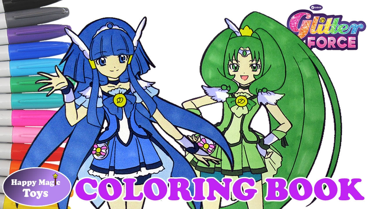 Glitter Force Coloring Book Compilation Breeze Spring Happy Magic ...