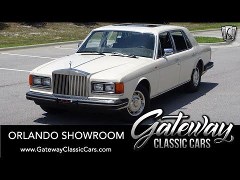 1984 Rolls Royce Silver Spirit For Sale Gateway Classic Cars Orlando 1655