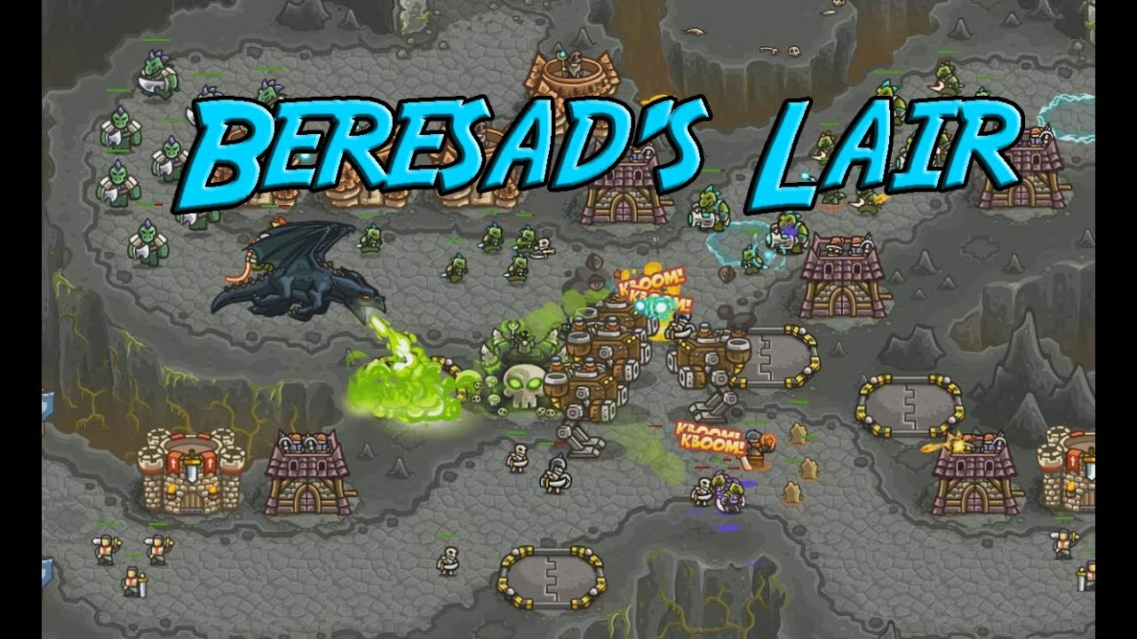 Kingdom Rush Frontiers - Beresad's Lair - Veteran 3 Stars