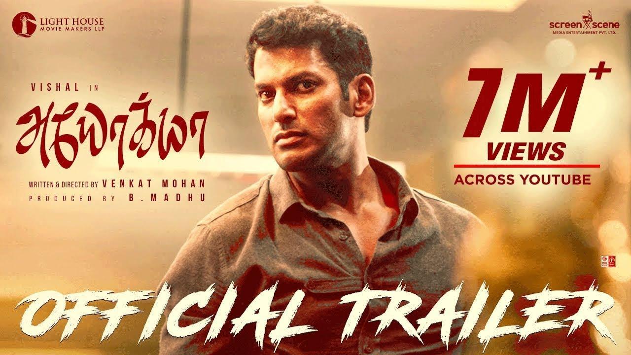 Ayogya Official Trailer | Vishal, Raashi Khanna, R.Parthiepan | Venkat Mohan | Sam CS | B.Madhu