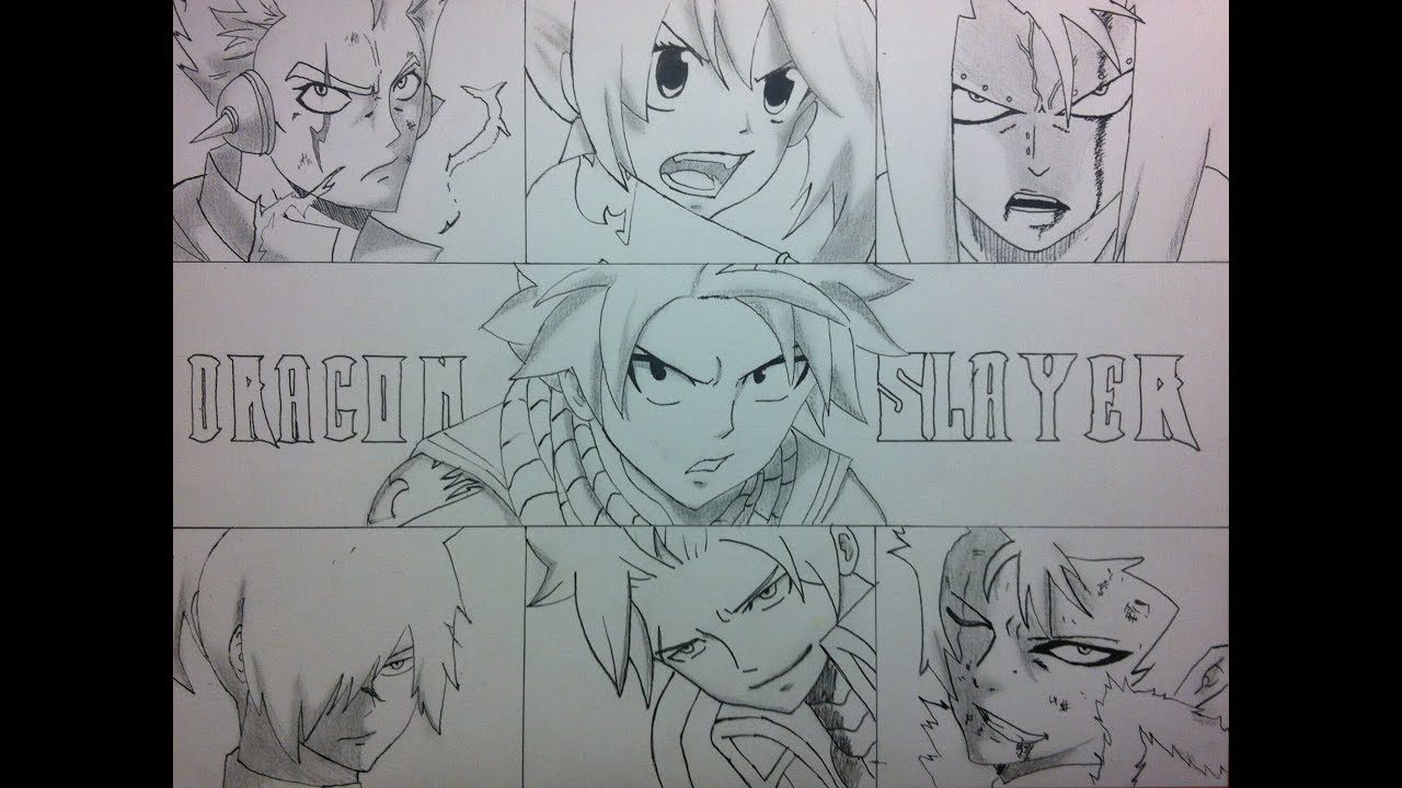 Speed drawing dragons slayers fairy tail