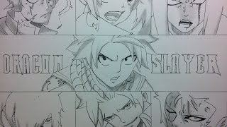 Speed Drawing  Dragons Slayers - Fairy tail