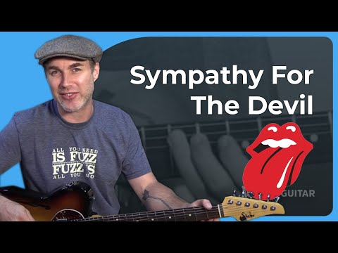 How to play Sympathy For The Devil by The Rolling Stones Guitar Lesson Tutorial Keith Richards