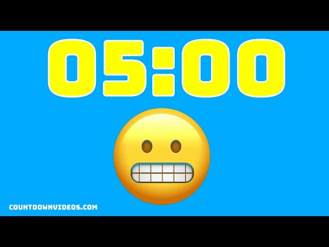 5 Minute Countdown Tmer ? Animated Emojis and Music?