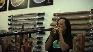 Australian Jingle Bells played on Didjeribone Slide Didgeridoo
