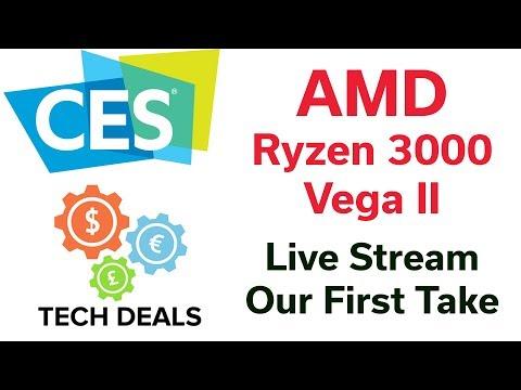 CES 2019 - AMD Keynote - Ryzen 3000 - Vega II - Surprises?