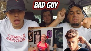 Billie Eilish & Justin Bieber - Bad Guy | REACTION REVIEW (with Lyrics)