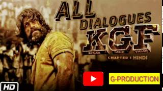 KGF Best Dialogues In Hindi || KGF Full Movie In Hindi || KGF All Dialogues || KGF Dialogues