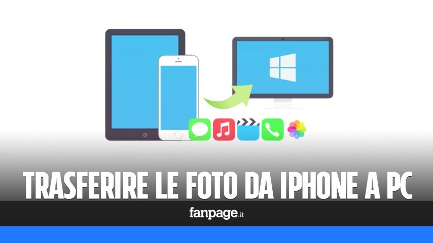 Trasferire Foto Da Iphone A Pc Youtube