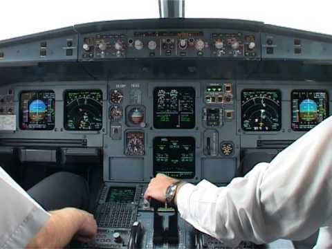 Cockpit flight Paris (CDG) - Thessaloniki (SKG) Cyprus Airways A319 pt1 (eng. sub)
