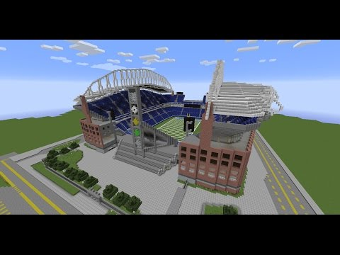 Minecraft: Let's walk #4 to a Football Arena