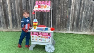 Zack Play Selling Ice Cream Toy From Ice Cream Cart