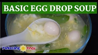 Basic Egg Drop Soup with Snow Peas and Quail Eggs