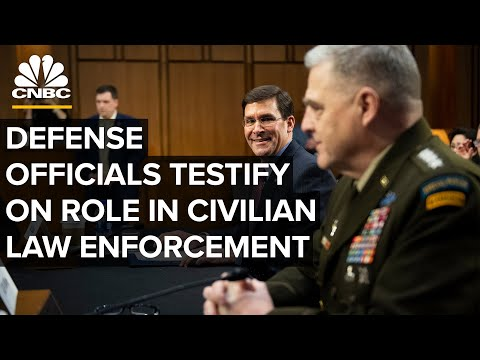 WATCH LIVE: Top defense officials testify on role in civilian law enforcement — 7/9/2020