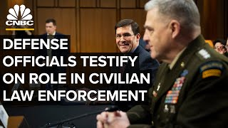 WATCH LIVE: Top defense officials testify on role in civilian law enforcement ⁠- 7/9/2020