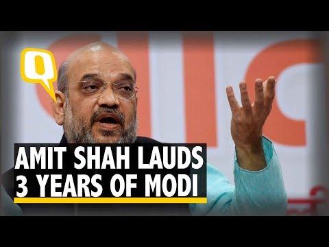 The Quint | Modi@3: Amit Shah Praises NDA Government, Congress Rebuts