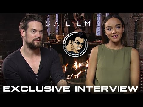 Shane West and Ashley Madekwe Interview - Salem, Season 2 (HD) 2015