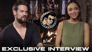 Shane West and Ashley Madekwe Interview - Salem, Season 2 (HD) 2015