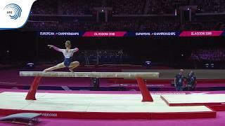Halle HILTON (GBR) - 2018 Artistic Gymnastics Europeans, junior beam final
