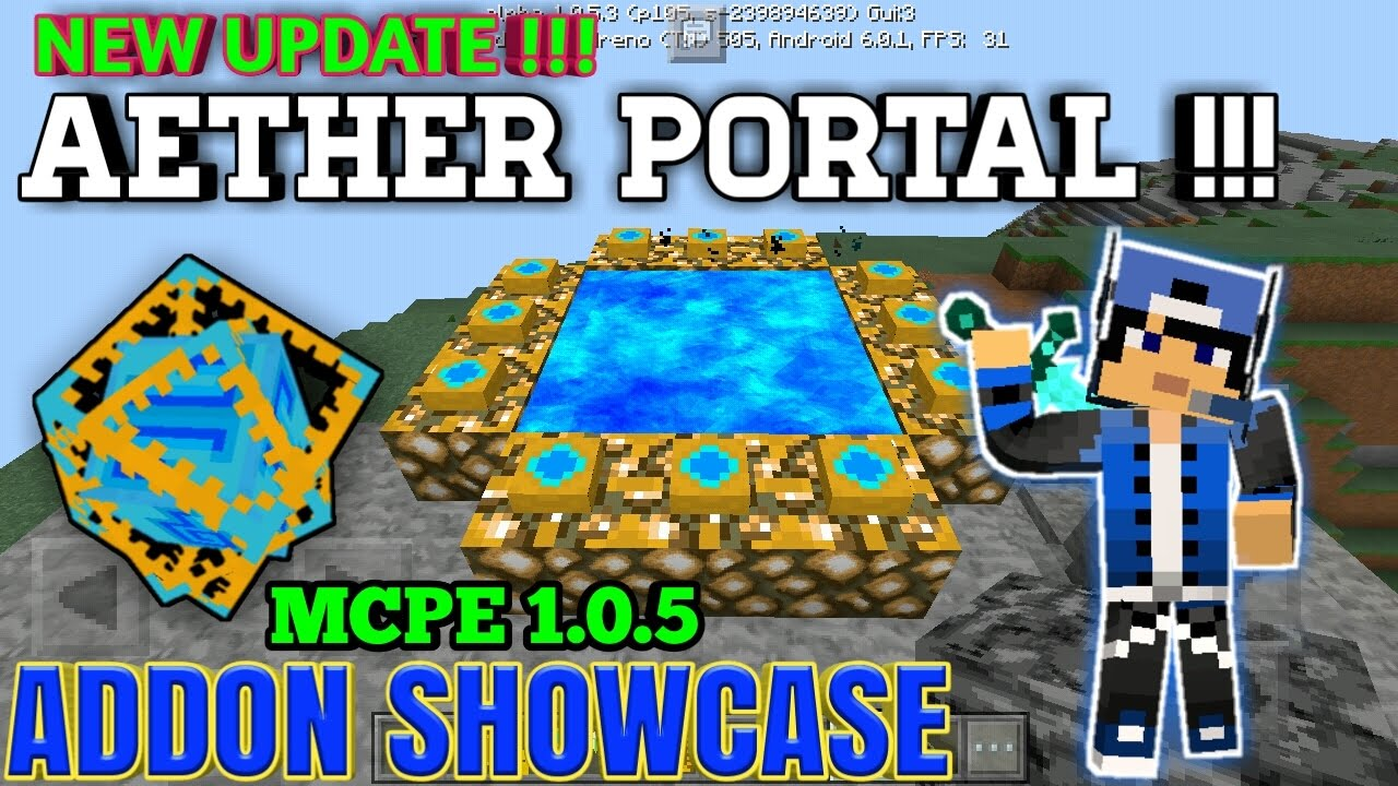 how to make a aether portal in minecraft pe