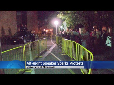 At Least 1 Arrested In U Of M Protest Of Activist Associated With 'Alt-Right' Movement