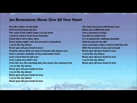 Never Give All Your Heart