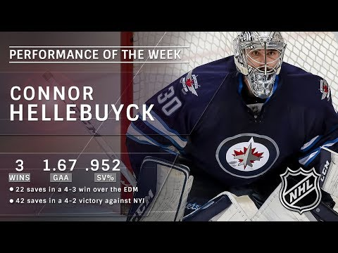 Connor Hellebuyck wins three, including his ninth career shutout
