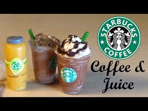 Starbucks Inspired Miniatures - Polymer Clay & Resin Tutorial