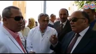 حسام الدين إمام محافظ الدقهلية في زيارته لمستشفى بلقاس المركزي