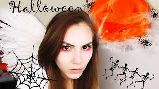 Хэллоуин: Как сделать тыквенную голову и образ демоничного ангела