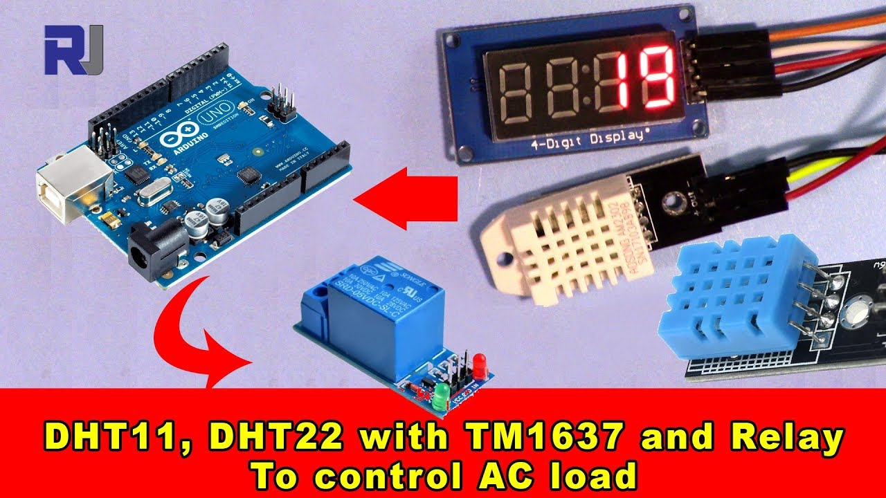 Using Dht11 Dht22 With Tm1637 Display And Relay To