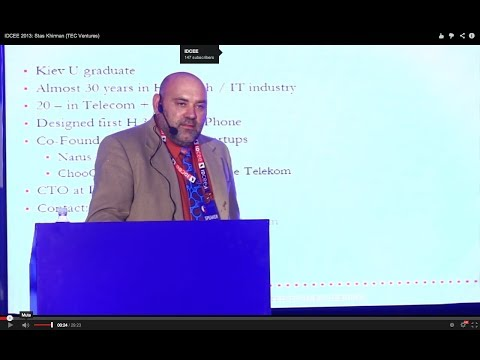 IDCEE 2013: Stas Khirman (CTO @Deutsche Telekom Hosted Business Services & MP @TEC Ventures)
