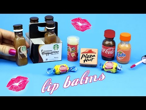 DIY Lip Balm {Easy}! 5 Miniature Starbucks, Soda, Pizza & Bubblegum Lip Gloss DIYs! Lip Balm How To