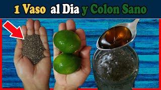 Cuida de tu COLON Bebiendo agua de chía con limón