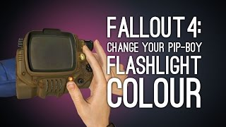 Fallout 4: How to Change the Colour of Your Pip-Boy Light - Fallout 4 Xbox One Gameplay