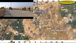 Обзор карты боевых действий в  Сирии за 19 10  2015 год