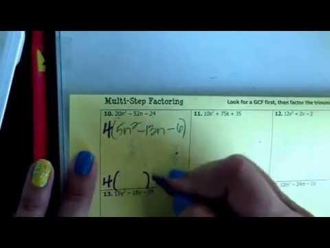 Advanced Algebra 2 Slip Slide Divide 1 4 Youtube