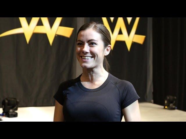 """American Ninja Warrior"" sensation Kacy Catanzaro steps inside a WWE ring"
